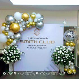 Trang trí lễ kỷ niệm 1 năm thành lập Smith Club