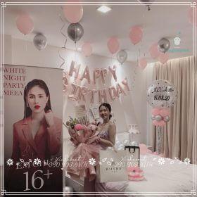 Trang trí phòng sinh nhật bạn nữ xinh đẹp MEEA