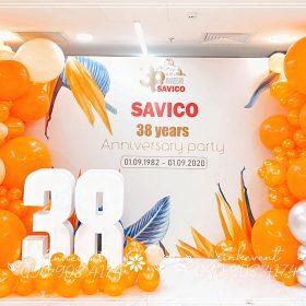Trang trí sinh nhật 38 năm Savico
