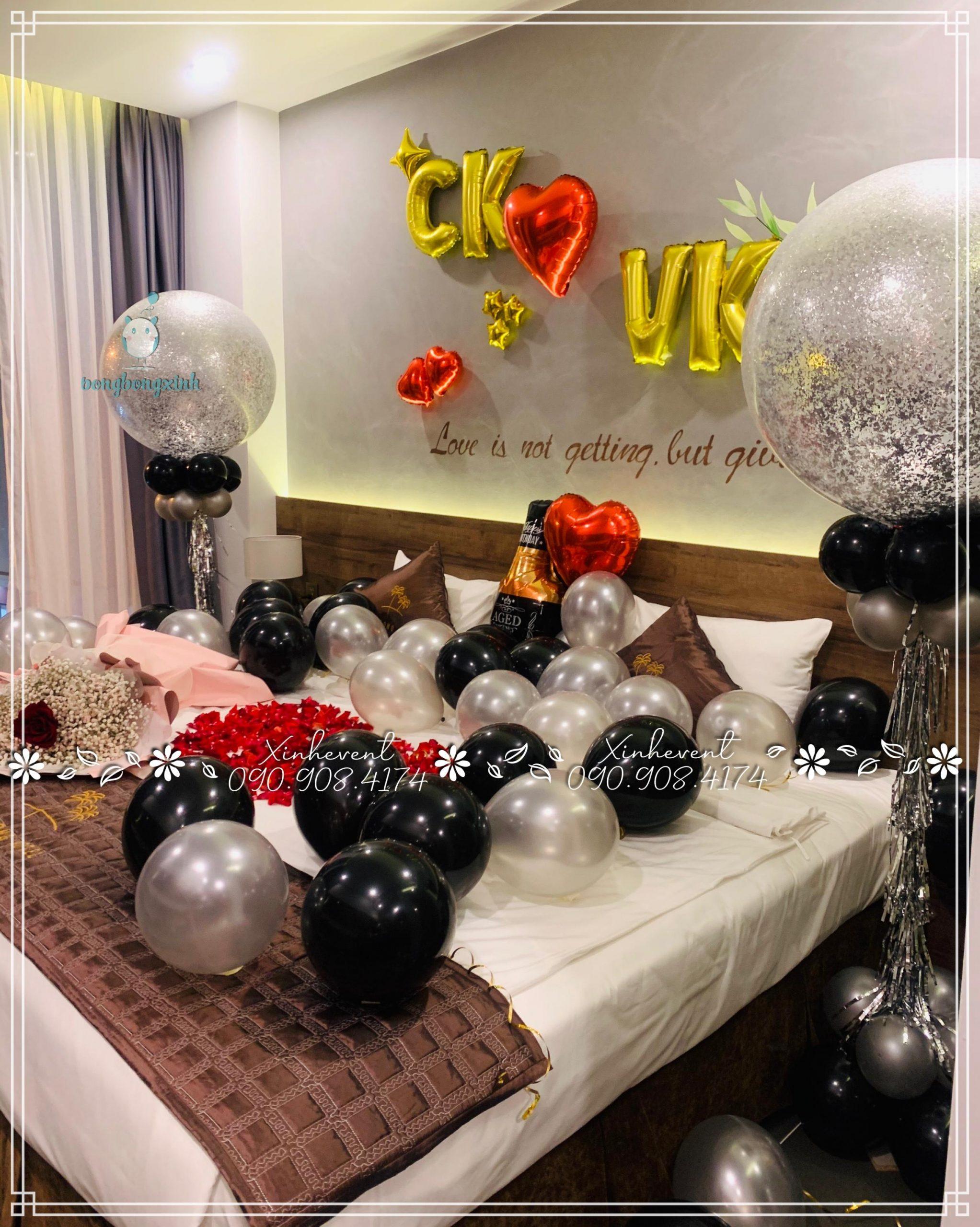 Trang trí sinh nhật bất ngờ cho vợ tại khách sạn thật đẹp với góc nhìn khác