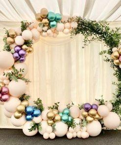 Trang trí backdrop tiệc cưới XV741