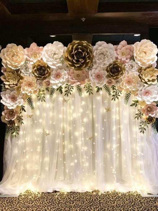 Trang trí backdrop tiệc cưới XV746