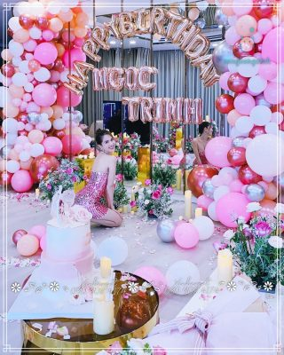 Trang trí sinh nhật chị Ngọc Trinh