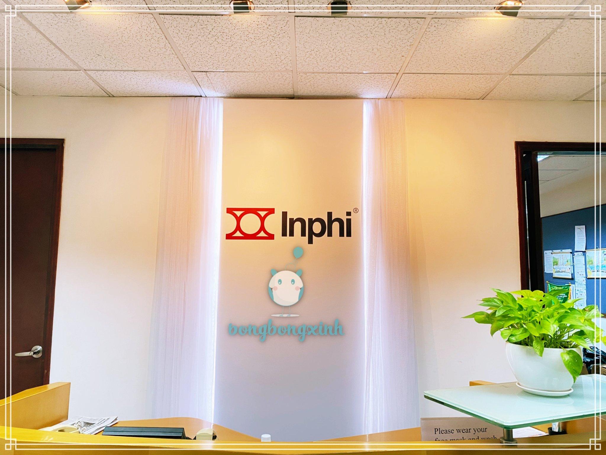 Vải voan trang trí sự kiện công ty Inphi