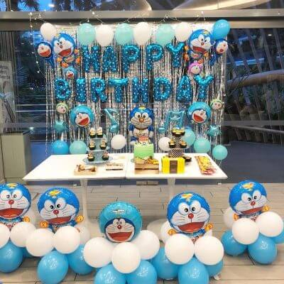Trang trí sinh nhật Doremon tuyệt đẹp và đáng yêu cho bé