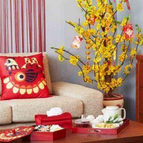 10 ý tưởng trang trí tết trong nhà thật đẹp và mang nhiều may mắn