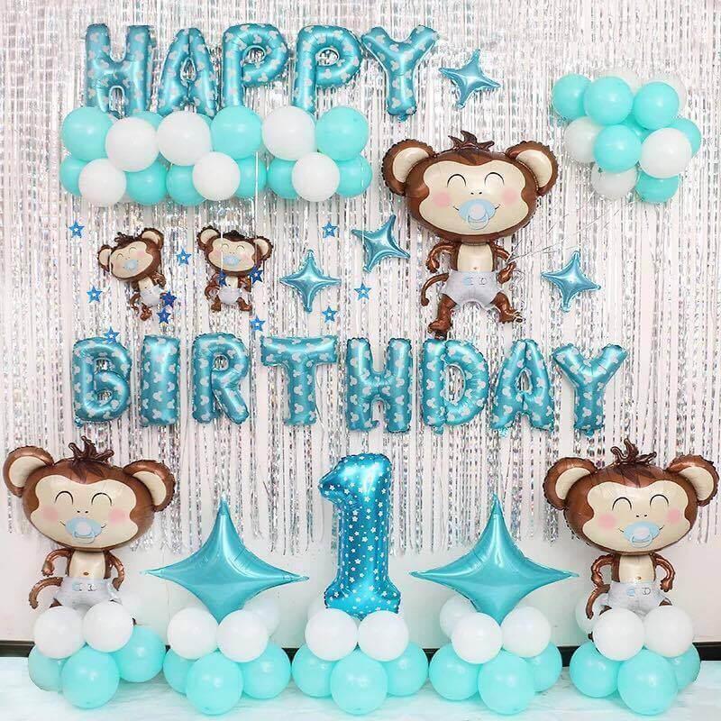 Bộ phụ kiện sinh nhật chủ đề con Khỉ cho bé