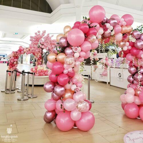 Cổng chào sinh nhật màu hồng