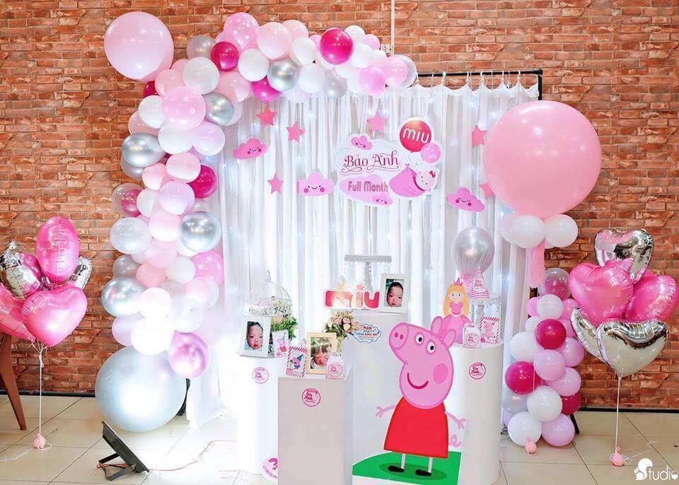 Gợi ý trang trí sinh nhật heo Peppa dễ thương và đáng yêu