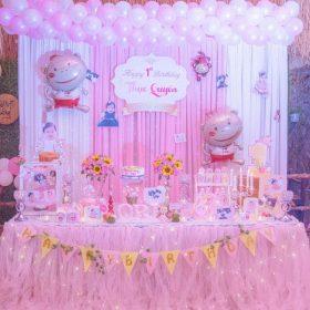 Gợi ý trang trí sinh nhật màu hồng tuyệt đẹp cho bé gái